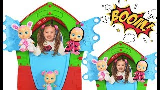 Dominika play with new cry baby doll for kids