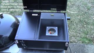Traeger PTG Portable Traeger Grill Initial Start Up