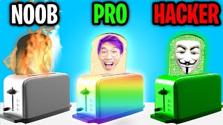 Can We Go NOOB vs PRO vs HACKER In I AM BREAD!? (FUNNIEST APP GAME EVER!)