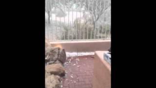 Huge ass hail!