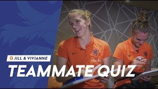 Teammate Quiz #2: Jill & Vivianne