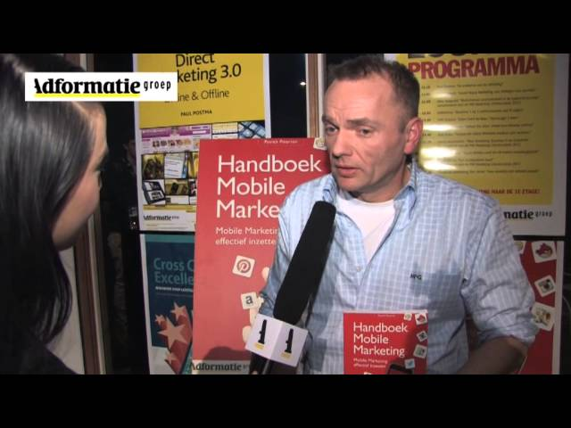 Patrick Petersen in gesprek met Adformatie over zijn boek 'Handboek Mobile Marketing'