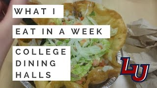 What I Eat in a Week: College Dining Halls