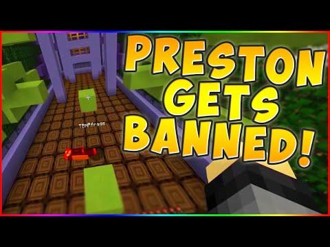 BANNING PRESTON! Minecraft ` TUNNEL PARKOUR!