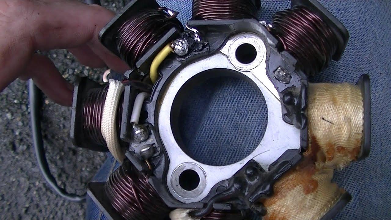 RS 450 Roller Polrad abziehen Wicklungen der Lichtmaschine ändern ...