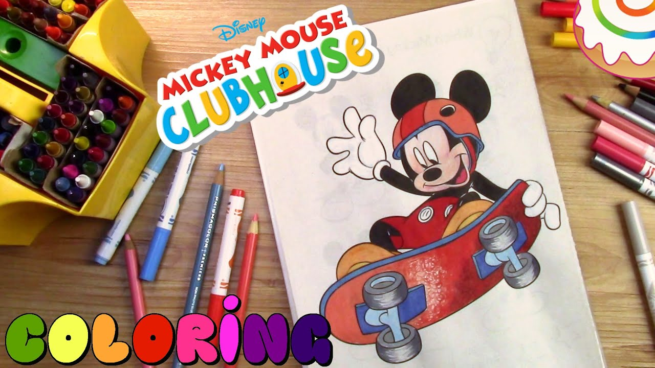 mickey mouse clubhouse coloring pages mickey mouse youtube