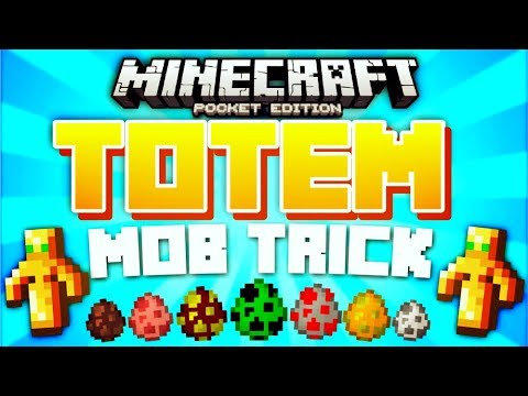 TOTEM OF UNDYING MOB TRICK // Minecraft PE...