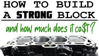 HOW TO build aฑ ENGINE block for BOOST + detailed COST breakdown - PROJECT UNDERDOG #10