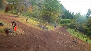 20171015HASEオフロードごっこ ミニモトB予選KX100ヘルカメ