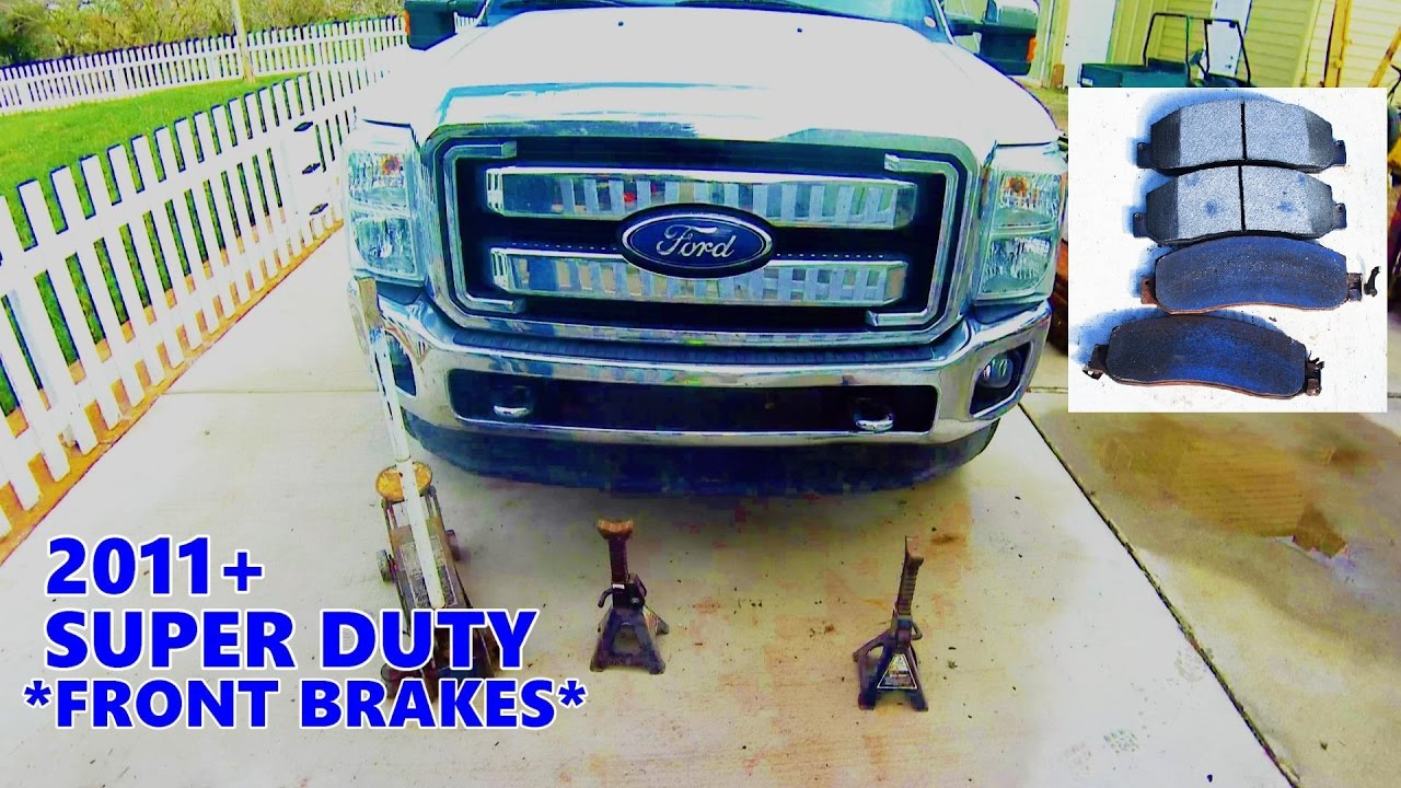 how to front brake job easy step by step 2011 up super duty [ 1280 x 720 Pixel ]