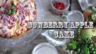 Cowberry Apple Cake || Яблочно-брусничный пирог