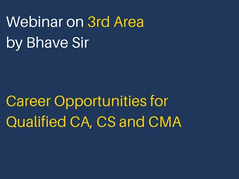 Career Opportunities for CA -3rd Area Webinar