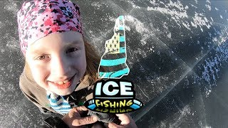 Ice Fishing in New Hampshire with Scarlett - Bass, Crappie, Perch, Pickerel