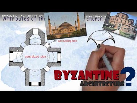 BYZANTINE ARCHITECTURE (explained with illustrations/ most simplified way)