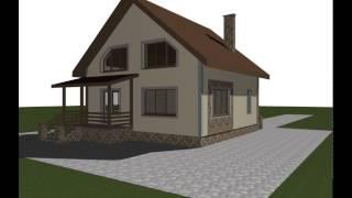 Дом из пеноблока проект ПБ-106(Проекты домов из пеноблока, видео презентация, 3д модель дома пб-106. Общая площадь: 168 Жилая площадь: 128 Площад..., 2015-06-26T15:40:13.000Z)