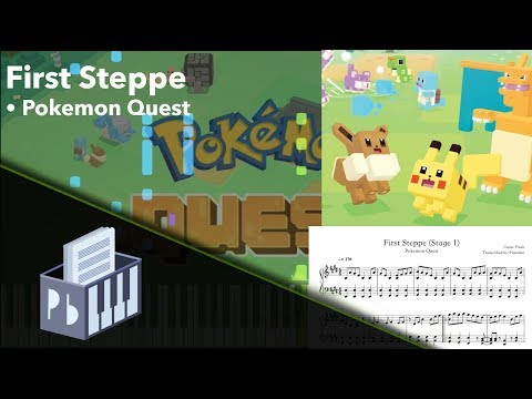 First Steppe - Pokémon Quest [Piano Tutorial] (Synthesia) // Pianobin + Sheets/MIDI