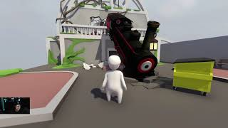 Human: Fall Flat Gameplay (Steam Remote Play) 4 Players 1 Controller