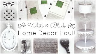 White & Black (Grey & Tan) Home Decor Haul! ♡ HomeGoods, TJ Maxx, Marshalls, Target & Kate Spade