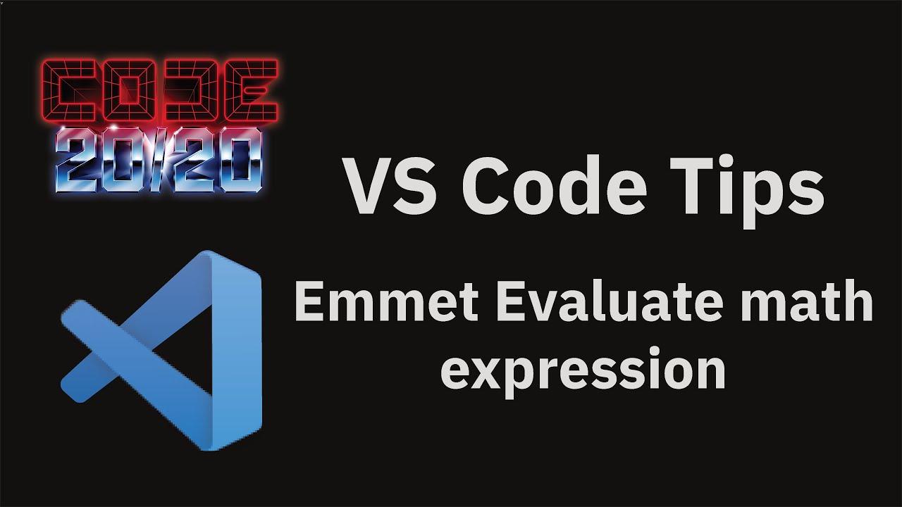 Emmet Evaluate math expression