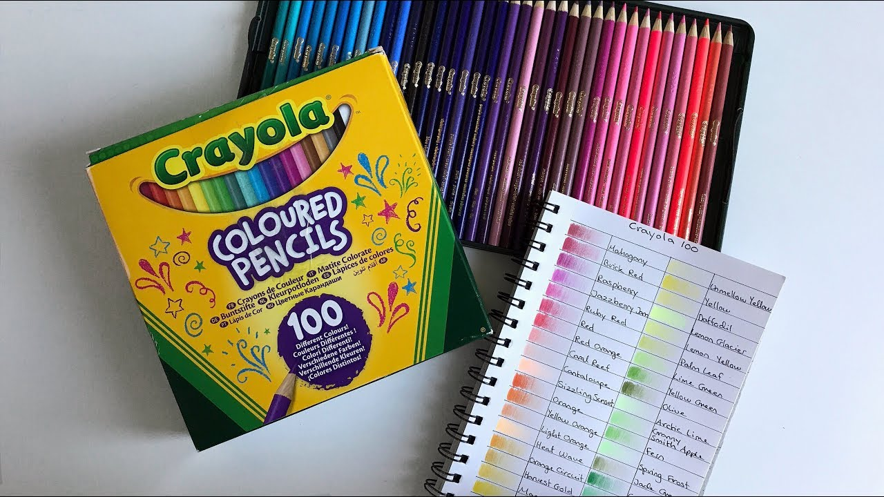 crayola 100 colored pencils  swatches  u0026 first impression