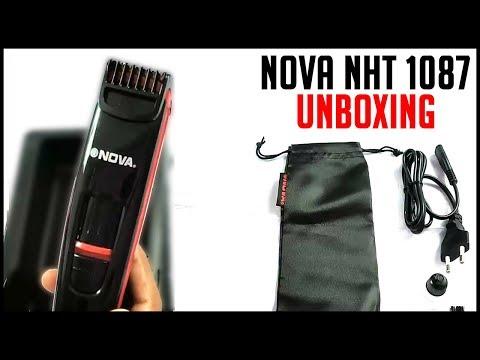 NOVA NHT 1087 TURBO POWER TRIMMER UNBOXING | Best Beard Trimmer For Men 2018 | HINDI