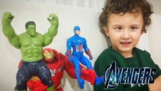Süper kahramanlar!!! Yenilmezler serisi Örümcek adam süpermen batman hulk thor | Oyuncak videoları