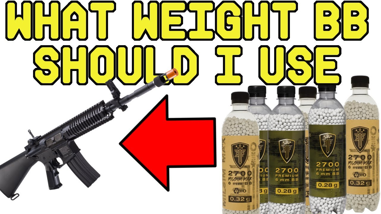 What Weight BB Should I use in my Airsoft Gun? - YouTube