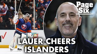 Matt Lauer has been cheering on the NY Islanders at games | Page Six Celebrity News