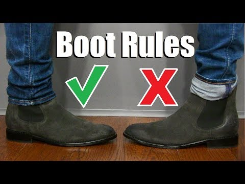 5 Suede Boot Wearing Rules EVERY Guy Should Follow!