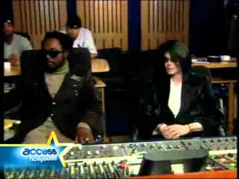 Michael Jackson and Will-I-Am in Ireland (Behind the scenes)
