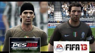 PES 2013 vs FIFA 13 FACE Comparison Juventus FC