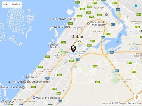 damac merano tower location map business bay dubai uae