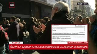 Telam: La justicia anula el plan de despidos de la agencia de noticias