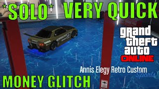 *SOLO* VERY QUICK GTA 5 ONLINE MONEY GLITCH 1.45 / 1.44