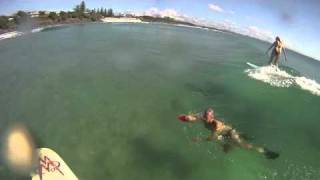 GoPro HD Longboard Surfing Byron Bay