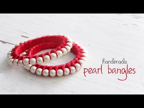 DIY Pearl Bangles