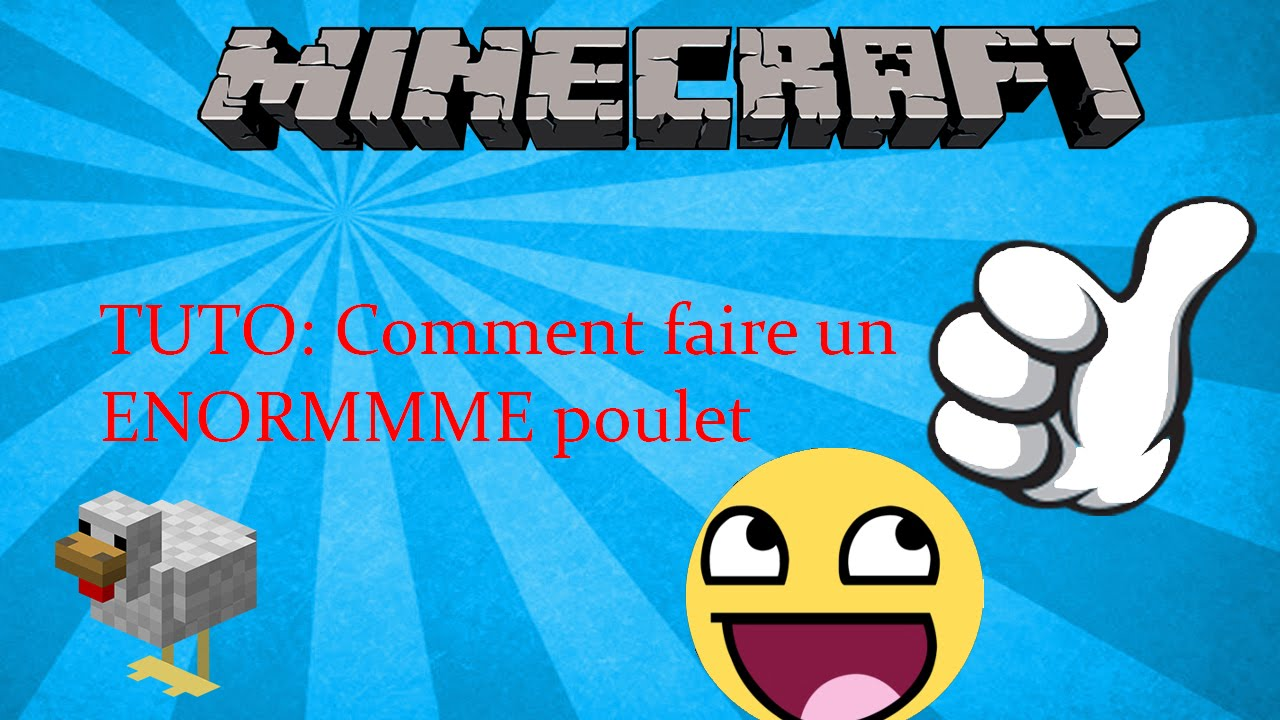 Minecraft tuto comment faire un poulet g ant youtube - Comment coller un poster geant ...