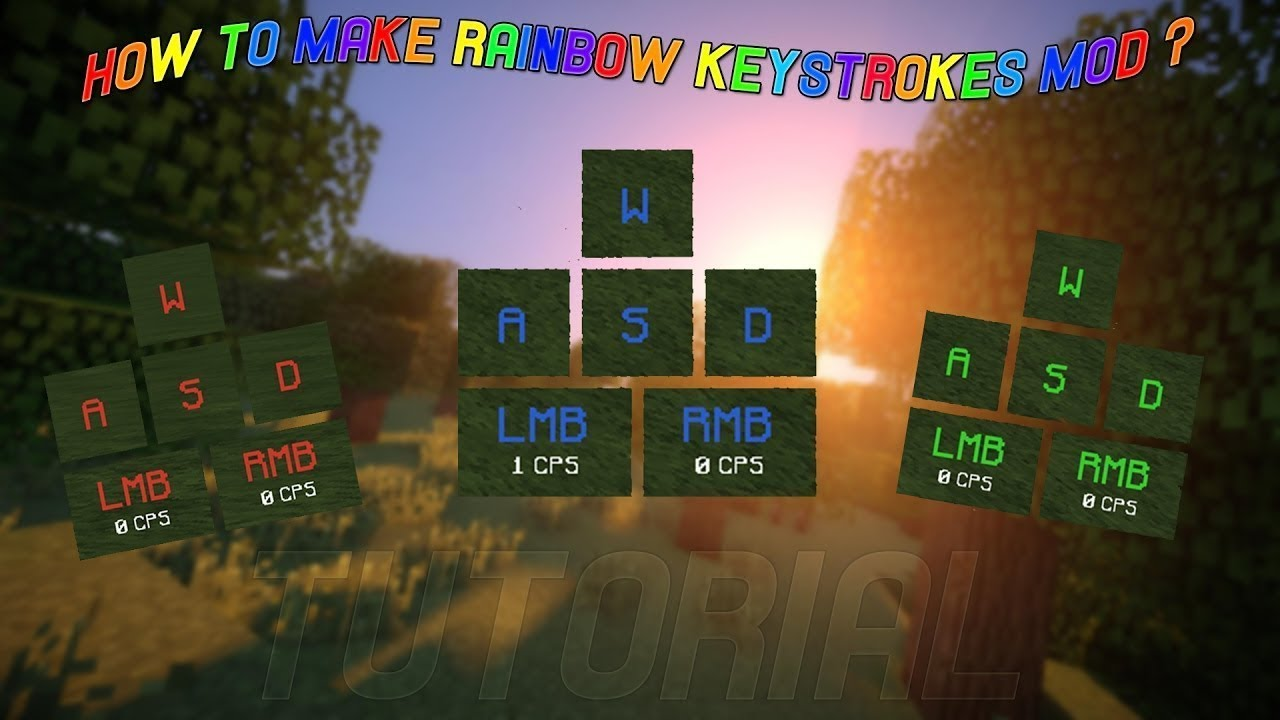 HOW TO GET KEYSTROKES MOD in Minecraft 1 8 (download in