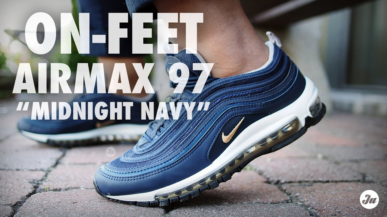 On-feet  Air Max 97 in Midnight Navy (2017 release) - YouTube c7e26ba80
