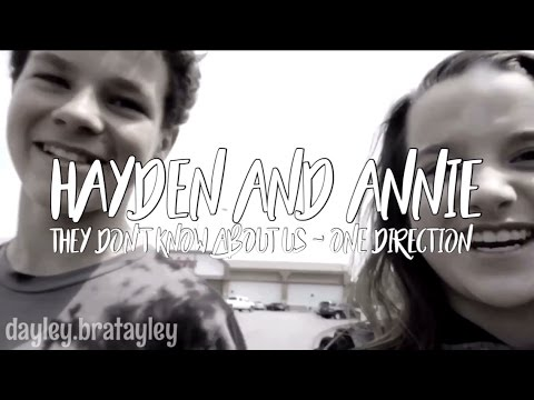 Hayden And Annie - They Don't Know About Us by 1D || Dayley Bratayley