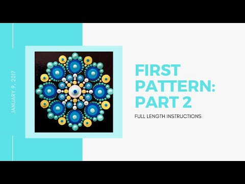 How to use my patterns to create your own dot mandalas - Part 2