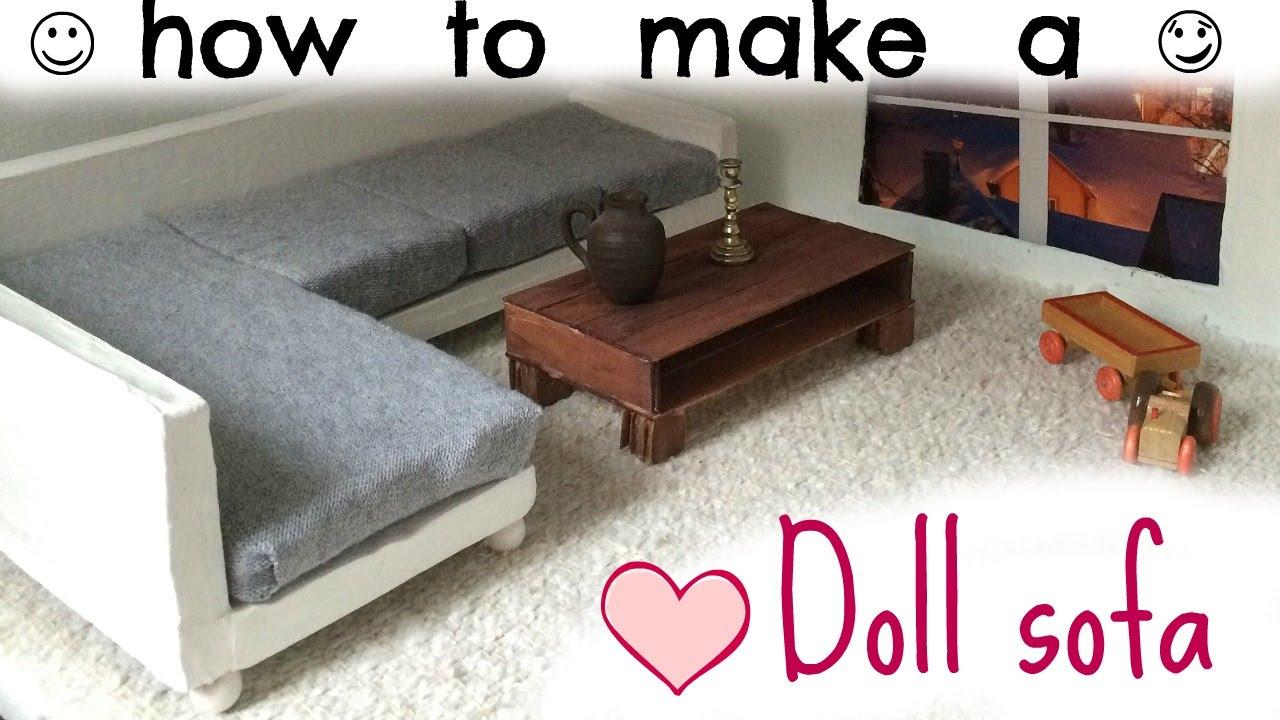 18 Doll Sofa Diy Credit Youtube Premium