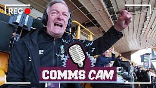 A FIST-PUMPING WIN | COMMS CAM | Wolves v Burnley