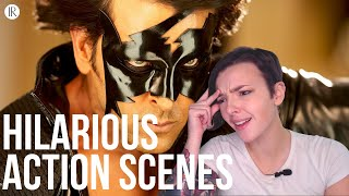 Super Funny action scenes of Bollywood movies REACTION! | Indi Rossi