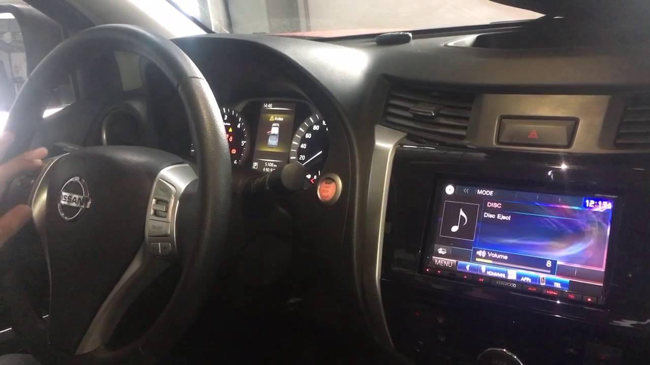 Nissan X Trail >> Nissan Frontier NP 300 radio Kenwood DDX7050bt - YouTube