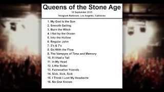 Queens of the Stone Age Setlist - Teragram Ballroom - Los Angeles - California - 10 September 2015