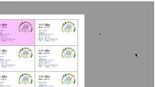 名刺をラベル屋さんで印刷するときには、いったんPDFファイルで保存しま...