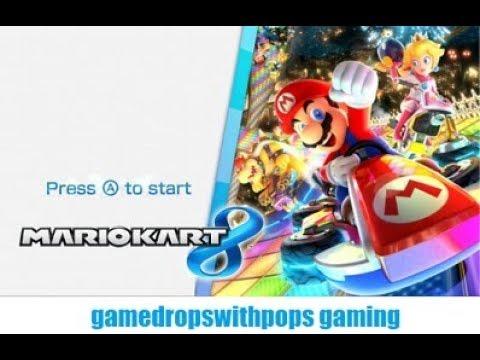 Lets Play Mario Kart 8 Fun Run Wii U Edition SMO Snowline Circuit & DS Rainbow Road