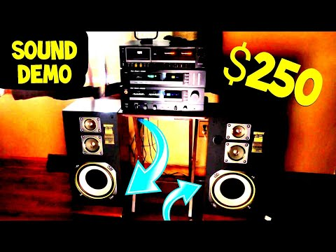 Vintage Fisher Studio Standard Stereo System SOUND DEMO