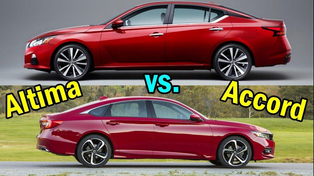 2019 Nissan Altima Vs Honda Accord Visual Comparison
